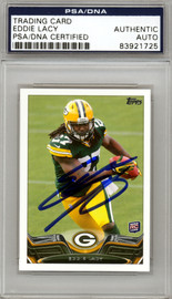 Eddie Lacy Autographed 2013 Topps Mini Rookie Card #406 Green Bay Packers PSA/DNA #83921725
