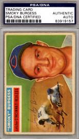 Smoky Burgess Autographed 1956 Topps Card #192 Cincinnati Reds PSA/DNA #83919157