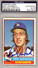 Rick Auerbach Autographed 1976 Topps Card #622 Los Angeles Dodgers PSA/DNA #83919878