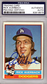 Rick Auerbach Autographed 1976 Topps Card #622 Los Angeles Dodgers PSA/DNA #83919879