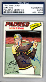 Mike Ivie Autographed 1977 Topps Card #325 San Diego Padres PSA/DNA #83919906