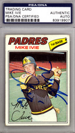 Mike Ivie Autographed 1977 Topps Card #325 San Diego Padres PSA/DNA #83919907