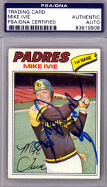 Mike Ivie Autographed 1977 Topps Card #325 San Diego Padres PSA/DNA #83919908