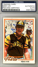 Mike Ivie Autographed 1978 Topps Card #445 San Diego Padres PSA/DNA #83919955