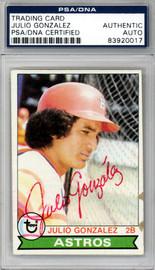 Julio Gonzalez Autographed 1979 Topps Card #268 Houston Astros PSA/DNA #83920017