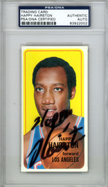 Happy Hairston Autographed 1970 Topps Card #77 Los Angeles Lakers PSA/DNA #83922002