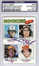 Bailor Garcia Reynolds Autographed 1977 Topps Card PSA/DNA #83319346