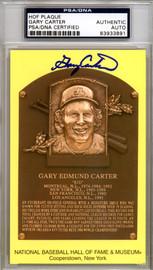 Gary Carter Autographed HOF Plaque Postcard New York Mets, Montreal Expos PSA/DNA #83933891