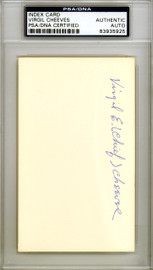 """Virgil """"Chief"""" Cheeves Autographed 3x5 Index Card Chicago Cubs PSA/DNA #83935925"""