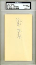 """Arthur """"Artie"""" Butler Autographed 3x5 Index Card St. Louis Cardinals PSA/DNA #83935971"""