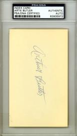 """Arthur """"Artie"""" Butler Autographed 3x5 Index Card St. Louis Cardinals PSA/DNA #83935972"""