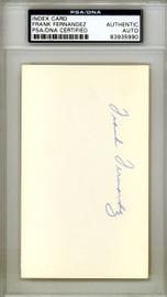 Frank Fernandez Autographed 3x5 Index Card New York Yankees PSA/DNA #83935990