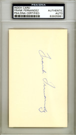 Frank Fernandez Autographed 3x5 Index Card New York Yankees PSA/DNA #83935991