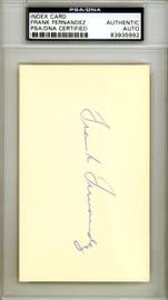 Frank Fernandez Autographed 3x5 Index Card New York Yankees PSA/DNA #83935992