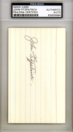John Fitzpatrick Autographed 3x5 Index Card Pittsburgh Pirates PSA/DNA #83935994
