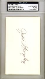 Julio Gonzalez Autographed 3x5 Index Card St. Louis Cardinals PSA/DNA #83936003