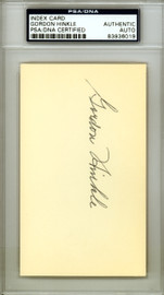 Gordon Hinkle Autographed 3x5 Index Card Boston Red Sox PSA/DNA #83936019