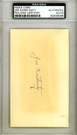 Jim Konstanty Autographed 3x5 Index Card Philadelphia Phillies PSA/DNA #83936066