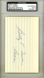 Billy Queen Autographed 3x5 Index Card Milwaukee Braves PSA/DNA #83936215