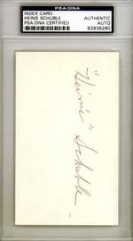 Heinie Schuble Autographed 3x5 Index Card Detroit Tigers, St. Louis Cardinals PSA/DNA #83936260