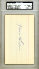 Fresco Thompson Autographed 3x5 Index Card Brooklyn Dodgers, Pittsburgh Pirates PSA/DNA #83936303