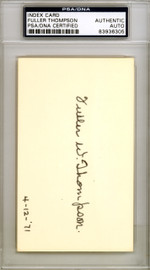 Fuller Thompson Autographed 3x5 Index Card New York Giants PSA/DNA #83936305