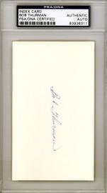 Bob Thurman Autographed 3x5 Index Card Negro League PSA/DNA #83936311