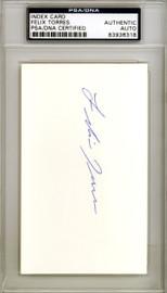 Felix Torres Autographed 3x5 Index Card Los Angeles Angels PSA/DNA #83936318