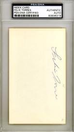 Felix Torres Autographed 3x5 Index Card Los Angeles Angels PSA/DNA #83936319