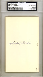 Felix Torres Autographed 3x5 Index Card Los Angeles Angels PSA/DNA #83936321