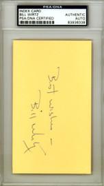 William Bill Wirtz Autographed 3x5 Index Card PSA/DNA #83936338