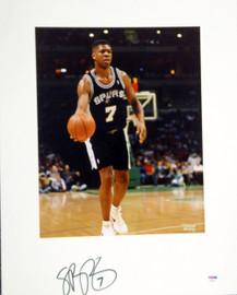 J.R. Reid Autographed 16x20 Matted Photo San Antonio Spurs PSA/DNA #AB53603