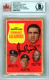 Juan Pizzaro Autographed 1962 Topps Card #59 Chicago White Sox Beckett BAS #0009576872