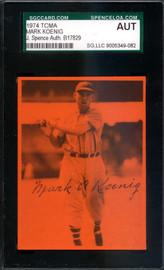 Mark Koenig Autographed 1974 TCMA Card JSA #B17829
