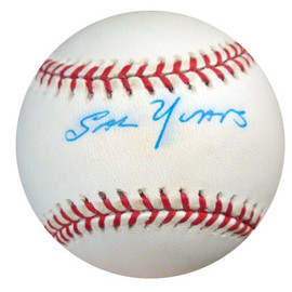 Sal Yvars Autographed Official NL Baseball New York Giants, St. Louis Cardinals PSA/DNA #Q89138