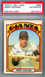 Jimmy Rosario Autographed 1972 O-Pee-Chee Card #366 San Francisco Giants PSA/DNA #26772310