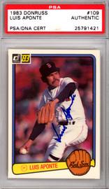 Luis Aponte Autographed 1983 Donruss Rookie Card #109 Boston Red Sox PSA/DNA #25791421