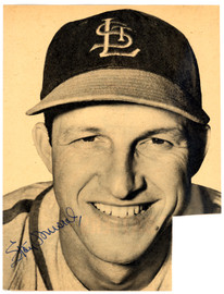 Stan Musial Autographed 7.5x10 Magazine Page Photo St. Louis Cardinals Vintage Beckett BAS #B26870