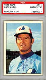 Karl Kuehl Autographed 1975 SSPC Card #611 Montreal Expos PSA/DNA #26603007