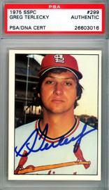 Greg Terlecky Autographed 1975 SSPC Card #299 St. Louis Cardinals PSA/DNA #26603016