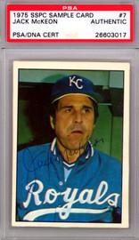 Jack Mckeon Autographed 1975 SSPC Card #7 Kansas City Royals PSA/DNA #26603017