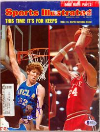 Bill Walton Autographed Sports Illustrated Magazine UCLA Bruins Beckett BAS #B26273