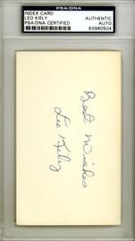 Leo Kiely Autographed 3x5 Index Card Boston Red Sox PSA/DNA #83960504