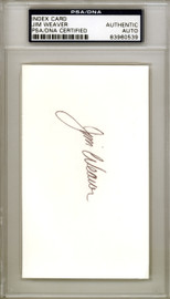 Jim Weaver Autographed 3x5 Index Card Pittsburgh Pirates, New York Yankees PSA/DNA #83960539