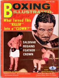 Muhammad Ali Autographed Boxing Illustrated Magazine Vintage Beckett BAS #A02353