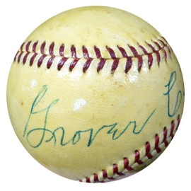 "Grover Land Autographed Official AL Harridge Baseball ""To My Friend Jim"" Vintage Beckett BAS #B26658"