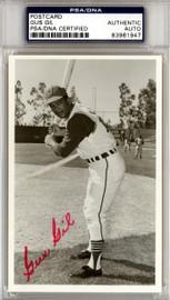 Gus Gil Autographed 3.5x5.5 Postcard Cleveland Indians PSA/DNA #83961947