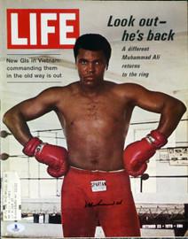 Muhammad Ali Autographed Life Magazine Beckett BAS #A02359