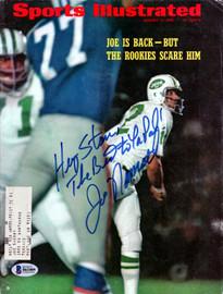 "Joe Namath Autographed Sports Illustrated Magazine New York Jets ""To Stan"" Beckett BAS #B61009"