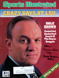 """Dale Brown Autographed Sports Illustrated Magazine LSU Tigers """"To Stan"""" Beckett BAS #B63440"""